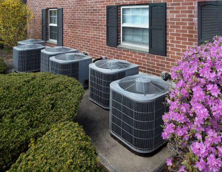 Foto de High efficiency modern AC-heater units, energy save solution-horizontal - Imagen libre de derechos