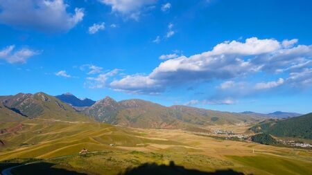 Photo pour Beautiful nature landscape view of The Qilian Mountain Scenic Area in Qinghai China. - image libre de droit