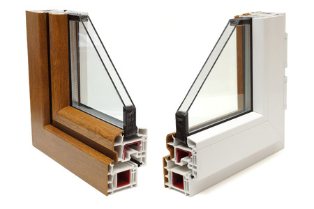 Photo for plastic windows profile - Royalty Free Image