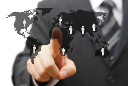 Foto für concept of global market with partners around the world - Lizenzfreies Bild