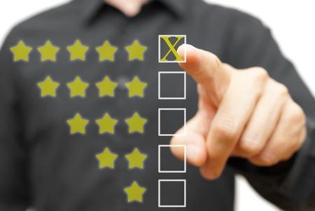 Photo pour Five star rating - image libre de droit