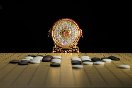 Photo for Weiqi - the traditional Asian strategic chess game - Royalty Free Image