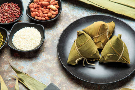 Photo for Chinese traditional snack - zongzi - Royalty Free Image