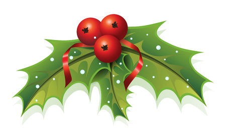 Illustration pour This image is a vector file representing a Holly Christmas Plant. - image libre de droit