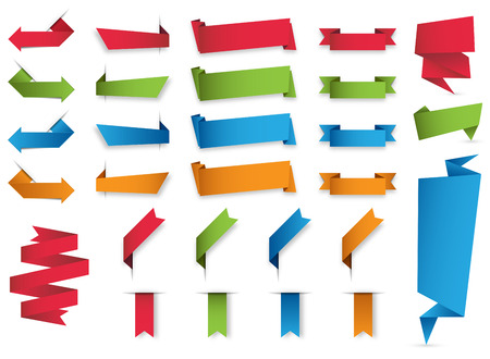 Illustration for collection of colorful banners. - Royalty Free Image