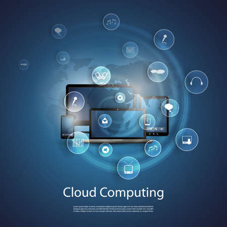 Photo for Cloud Computing Concept - Royalty Free Image