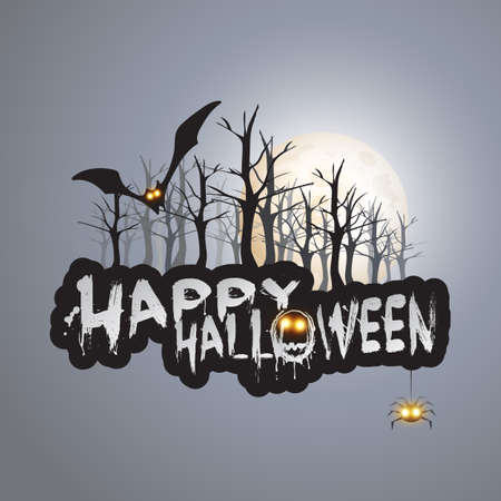 Happy Halloween Card - Vector Illustration