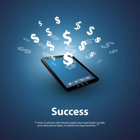 Illustration pour Success - Buy and Sell Online - Graphic Design Concept - image libre de droit