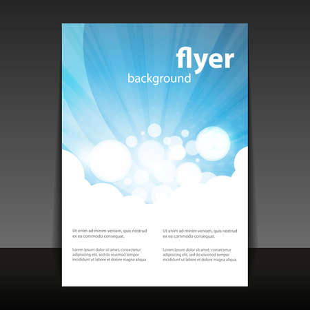 Illustration pour Flyer or Cover Design with Abstract White-Blue Background - image libre de droit