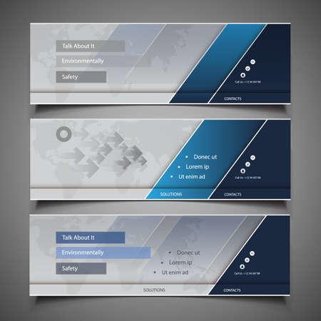 Illustration pour Web Design Elements - Header Designs - image libre de droit