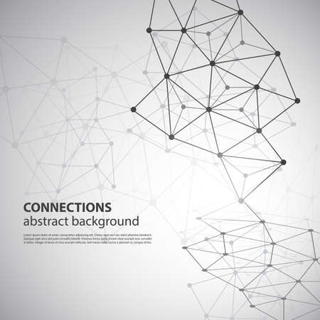 Ilustración de Molecular, Global or Business Network Connections Concept Design - Imagen libre de derechos