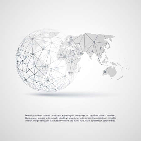 Ilustración de Global Networks - EPS10 Vector for Your Business - Imagen libre de derechos