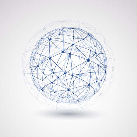 Illustration pour Networks - Globe Design - image libre de droit