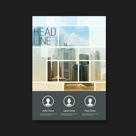 Illustration pour Flyer or Cover Design with Skyscrapers - image libre de droit