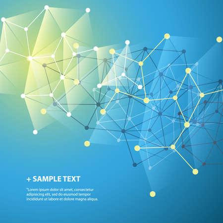 Illustration pour Connections - Molecular, Global, Business Network Design - Abstract Mesh Background - image libre de droit