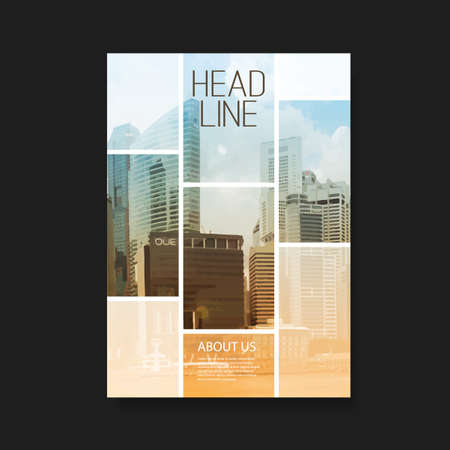 Illustration pour Flyer or Cover Design with Skyscrapers - image libre de droit