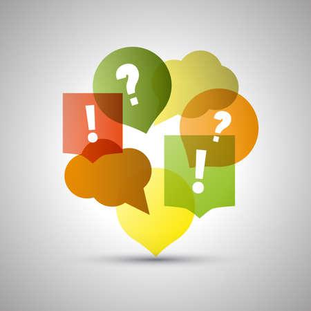 Ilustración de Question and Answer  Colorful Speech Bubbles with Copy Space - Imagen libre de derechos