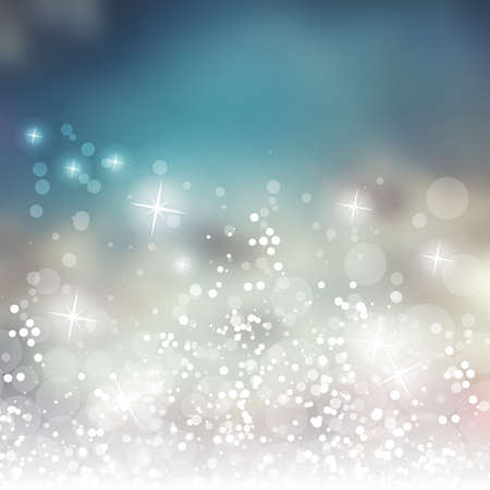 Illustration for Sparkling Cover Design Template with Abstract Blurred Background - Royalty Free Image