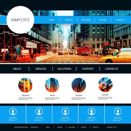 Ilustración de Website Design for Your Business with City Street Image Background - Imagen libre de derechos