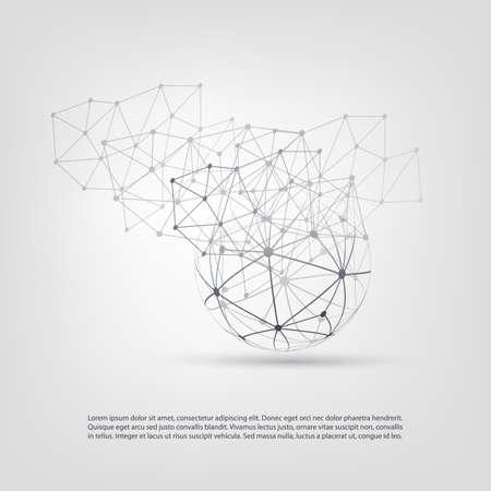 Illustration pour Cloud Computing and Networks Concept Design - image libre de droit
