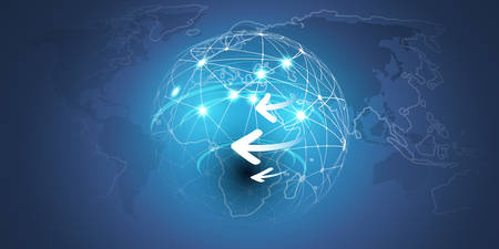 Illustration pour Earth Globe Design - Global Business, Technology, Network, Globalization Concept, Vector Design Template - image libre de droit