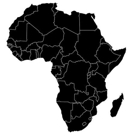 Illustration for map of africa - Royalty Free Image