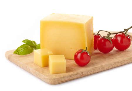 Foto de Cheese on cutting board - Imagen libre de derechos