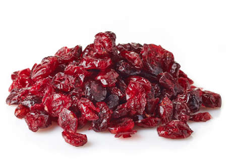 Photo for Dried cranberries isolated on white background - Royalty Free Image