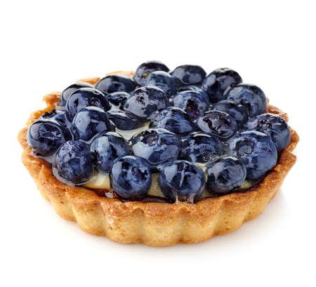 Photo for Blueberry tart isolated on white background - Royalty Free Image