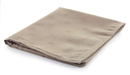 Foto de Cotton napkin isolated on white background - Imagen libre de derechos