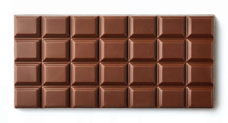 Photo for Milk chocolate bar isolated on white background from top view - Royalty Free Image