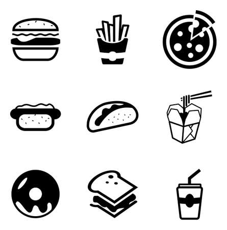 Ilustración de Fast Food Icons - Imagen libre de derechos