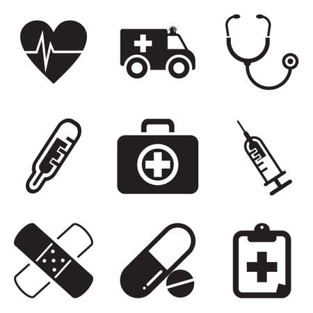 Photo pour Ambulance Icons - image libre de droit
