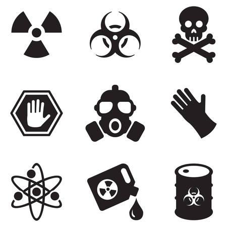 Illustration pour Biohazard Icons - image libre de droit