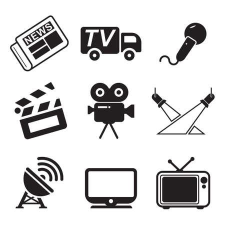 Illustration pour TV Station Icons - image libre de droit