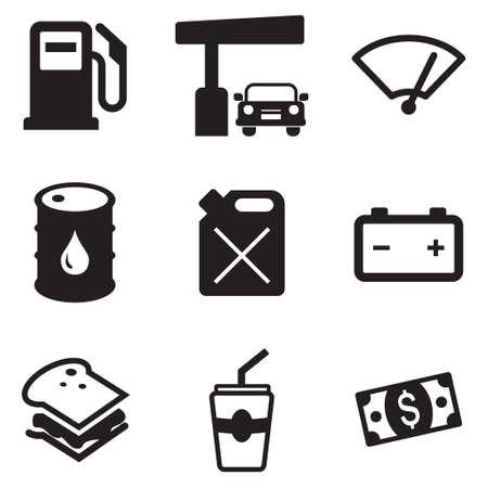Illustration pour Gas Pump Icons - image libre de droit