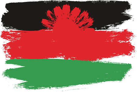 Illustration pour Malawi Flag Vector Hand Painted with Rounded Brush. - image libre de droit