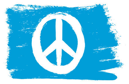 Illustration pour Peace flag vector hand painted with rounded brush. - image libre de droit