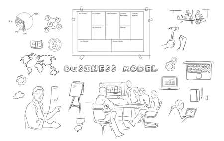 Photo pour business model - image libre de droit