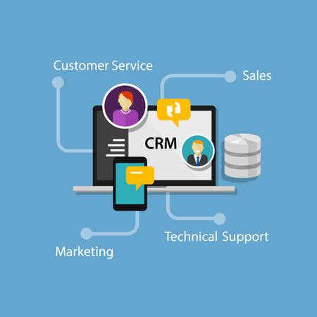 Ilustración de crm customer relationship management illustration vector infographic - Imagen libre de derechos