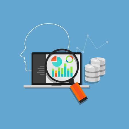Illustration pour data analysis analytics mining database database system corporate enterprise application - image libre de droit