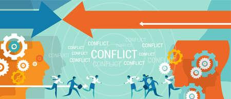 Ilustración de conflict management business problem resolve negotiation vector - Imagen libre de derechos