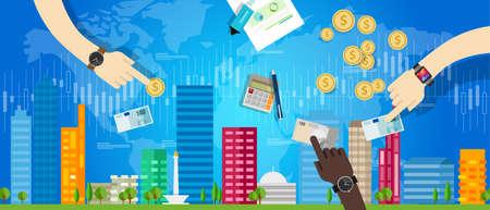 Ilustración de property housing house market investment price value vector - Imagen libre de derechos