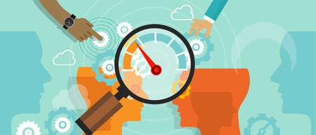 Illustration pour business benchmarking benchmark measure company performance vector - image libre de droit