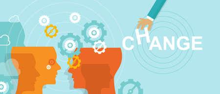 Illustration pour change management concept improvement direction forward vector - image libre de droit