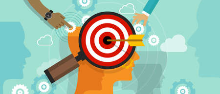 Ilustración de positioning in consumer customer mind marketing market strategy concept position human head mind chess vector - Imagen libre de derechos