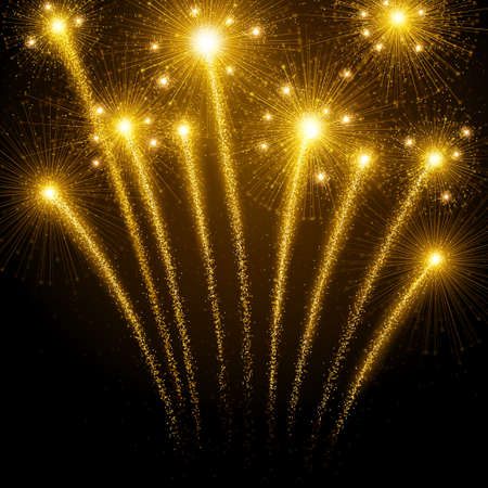 Illustration pour Holiday fireworks - image libre de droit