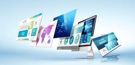 Illustration pour Modern device concept. Vector - image libre de droit