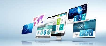 Illustration pour Web design template. Vector - image libre de droit
