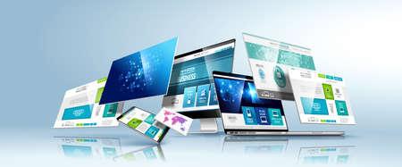 Ilustración de Web design template. Vector. - Imagen libre de derechos